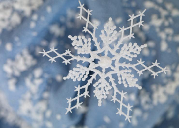 Christmas snowflake decoration, close up